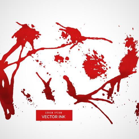conjunto de tinta roja salpicadura