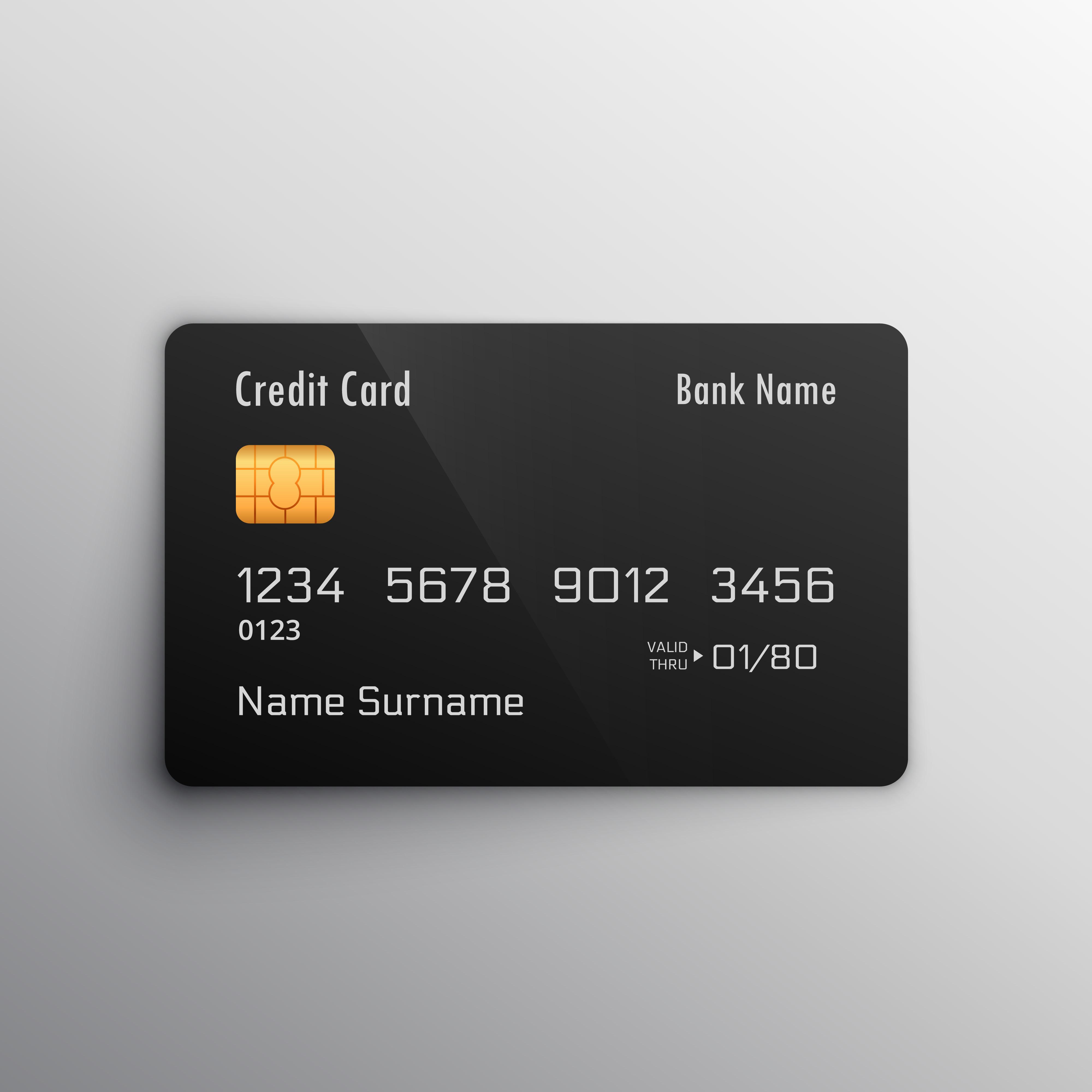 credit debit card mockup download free vector art stock graphics images. Black Bedroom Furniture Sets. Home Design Ideas