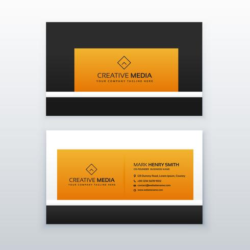 company business card design in yellow and black color