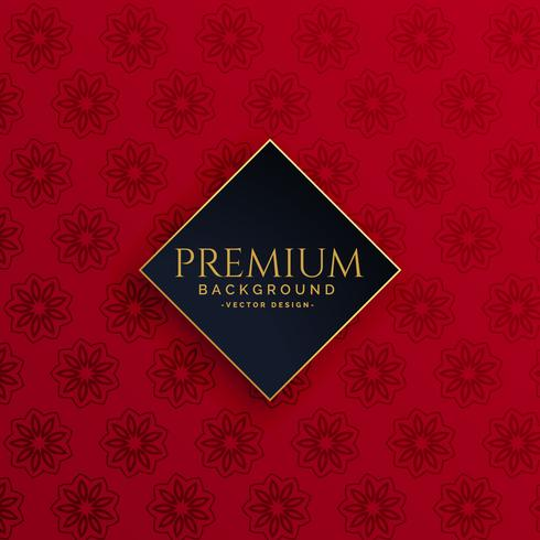 luxury vintage red pattern background
