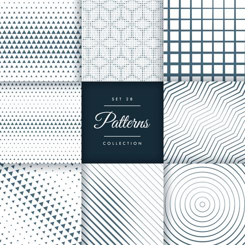 pack of mixed line and halftone pattern background