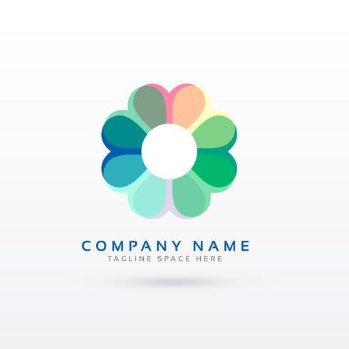 soft flower style logo design concept