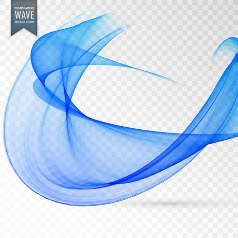 abstract blue wave transparent effect background