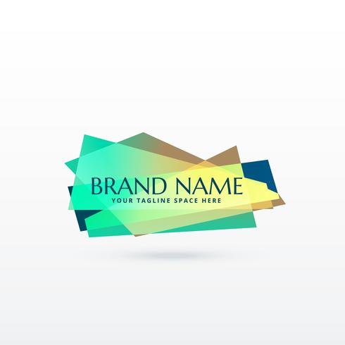 abstract brand logo concept design