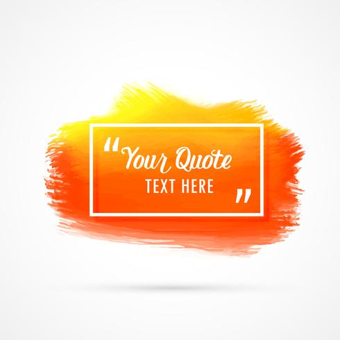 orange watercolor stain background with text space