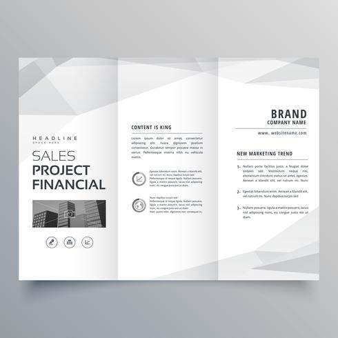 simple trifold brochure template design with abstract shapes