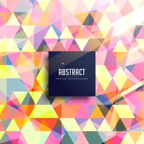 abstrait de triangles colorés