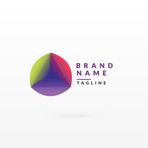 abstract colorful logo design template