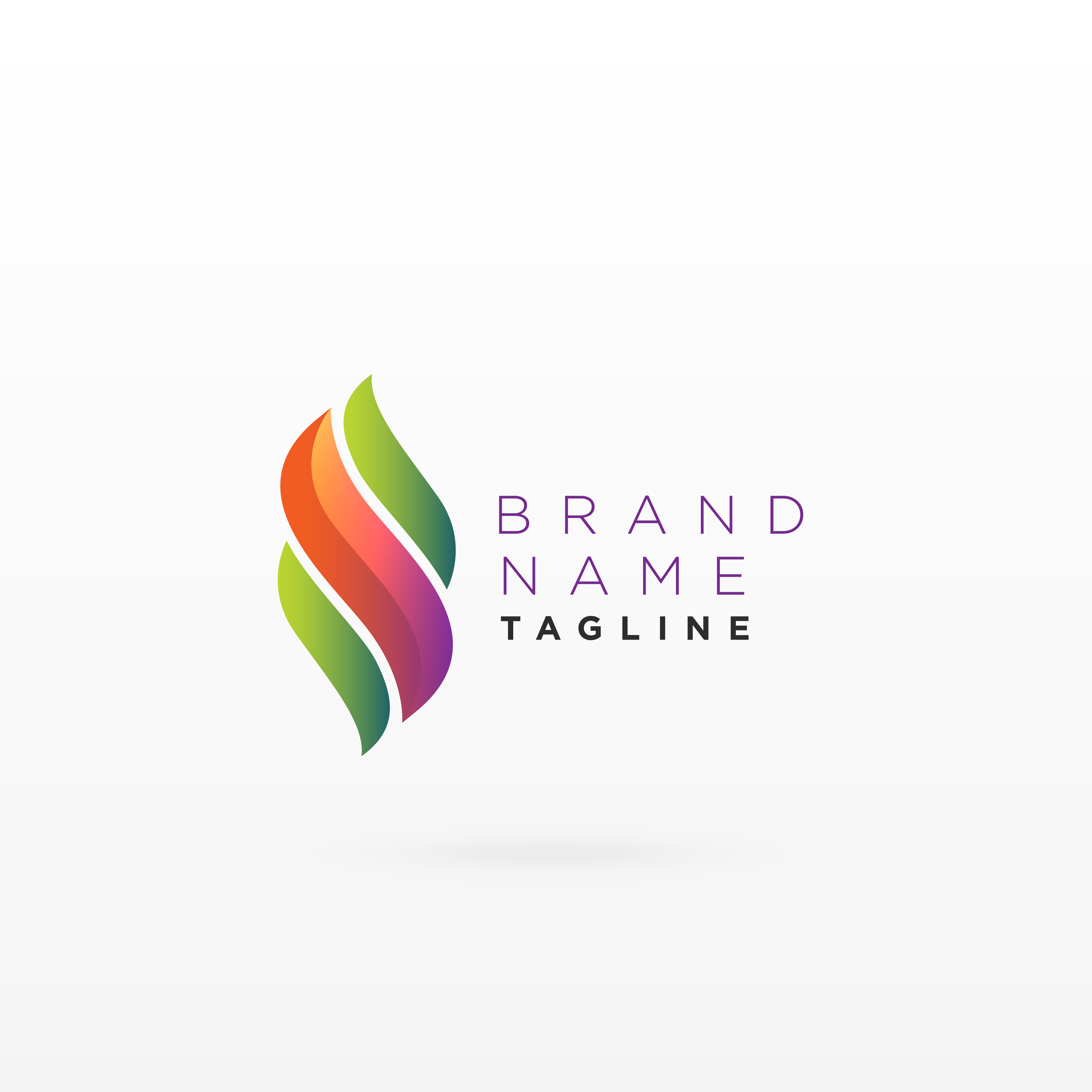 Gradient Abstract Company Logo Template:  Abstract Logo Free Vector Art