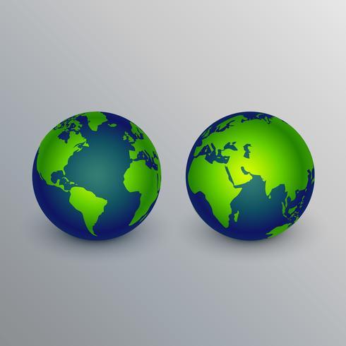 Diseño realista de la muestra de los iconos de la tierra