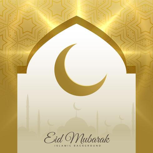 mosque door with crescent moon for eid mubarak