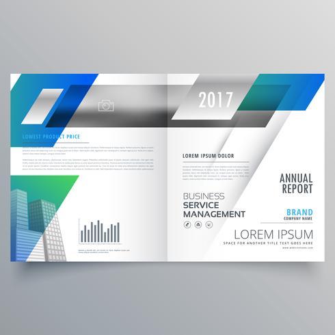 business bifold brochure template vector design