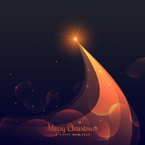 shiny christmas tree design on purple background