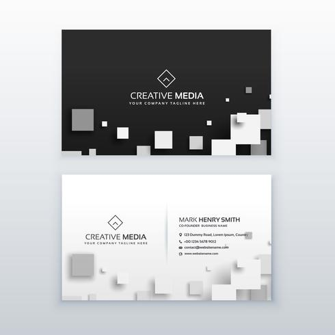 vector 3d quare business card design