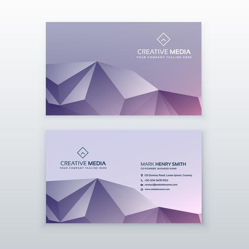 creative low poly business card design