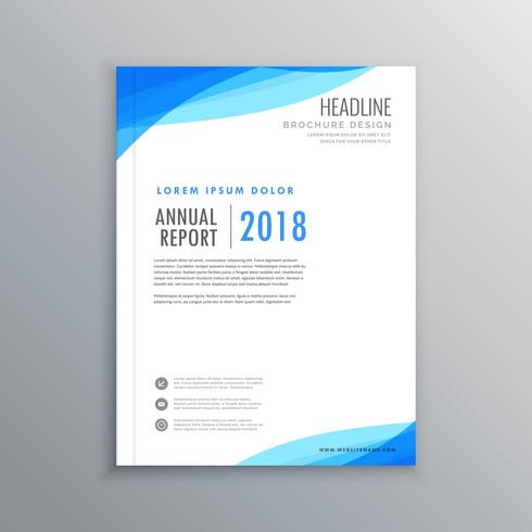 elegant blue wave business brochure template