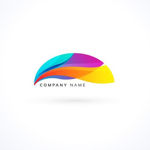 conceito de logotipo ondulado vibrante