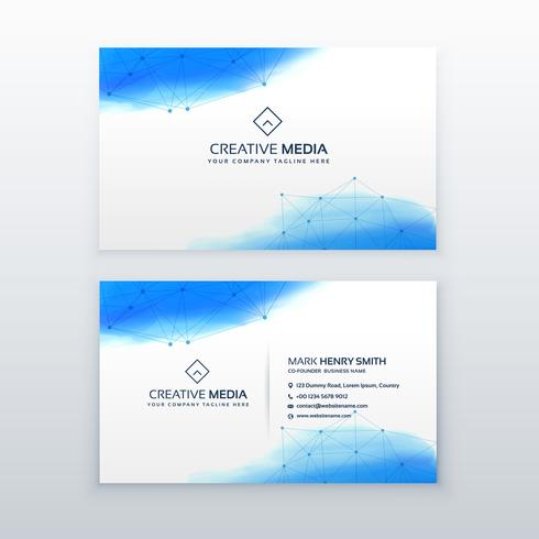 creative business card simple design template