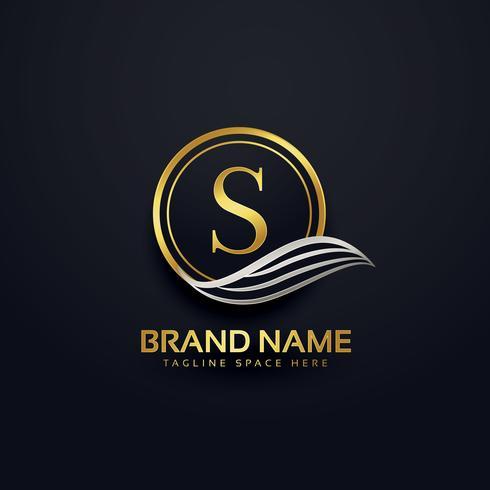 letter S creative premium logo design