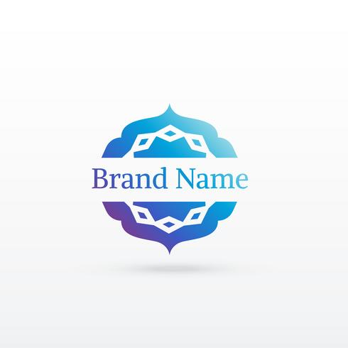 clean arabic style logo design template