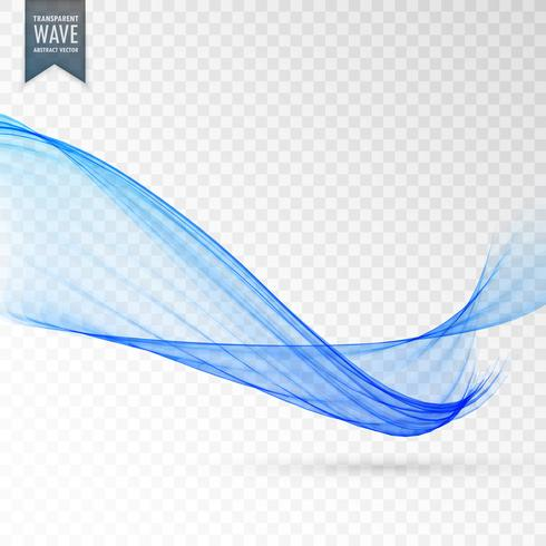 stylish smooth wave background in blue color