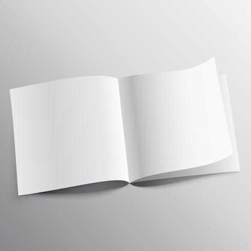 open book with page curl mockup template design