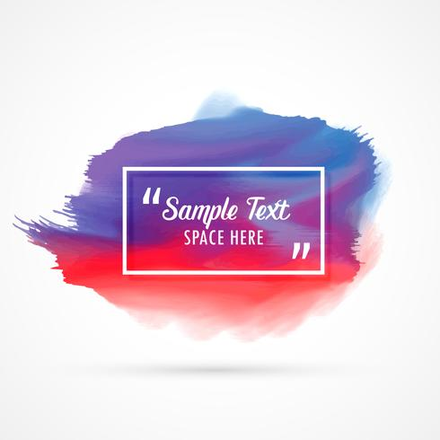 awesome watercolor stain background with sample text space