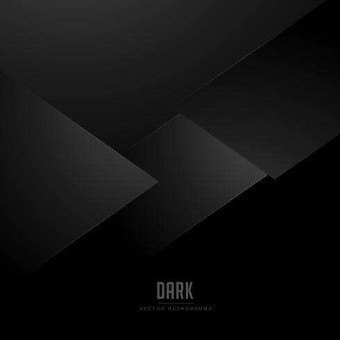 minimale zwarte achtergrond met abstracte vormen