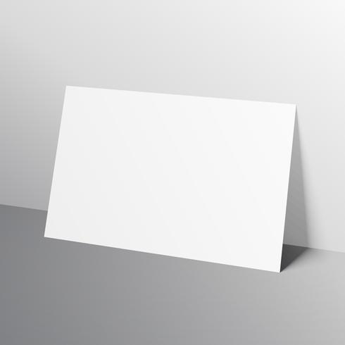 white horizontal a4 size paper mockup template leaned towards wa