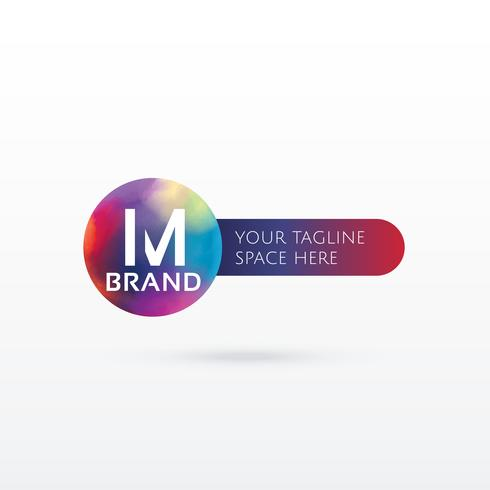 letter M abstract logo concept design