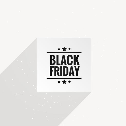clean black friday poster with long shadow