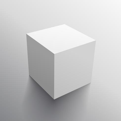 realistic 3d cube box design template download free vector art