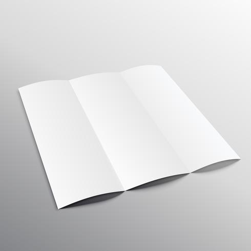 trifold blank brochure mockup design in perspective
