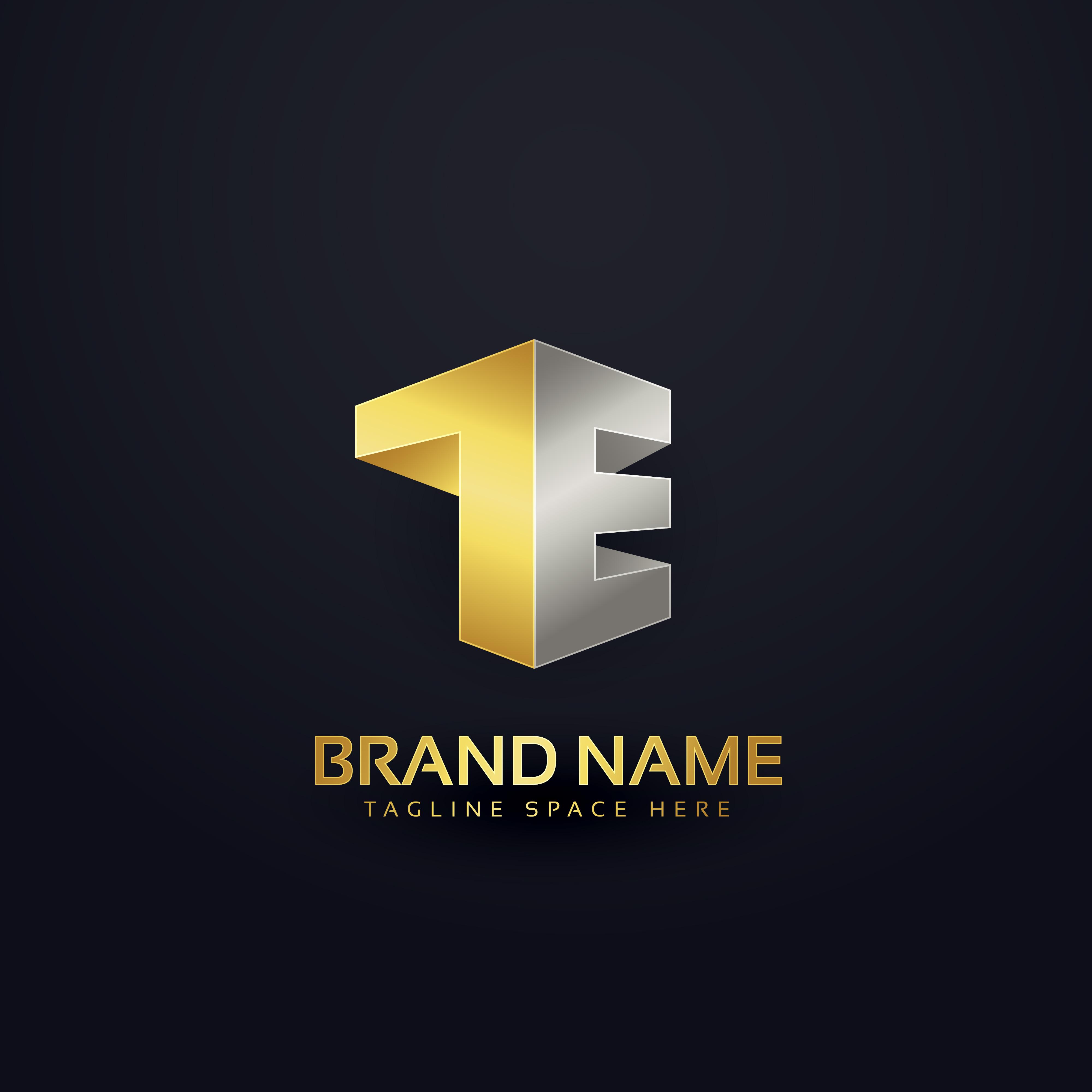 logo concept design in golden premium style for letter t