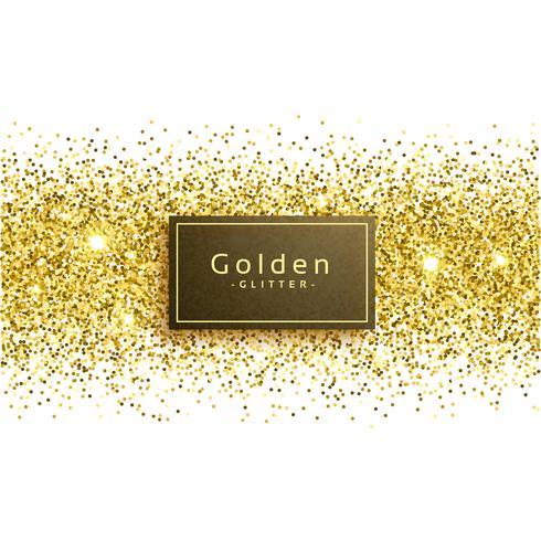 paillettes d'or sur fond blanc