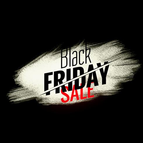 black friday sale banner with white paint stroke