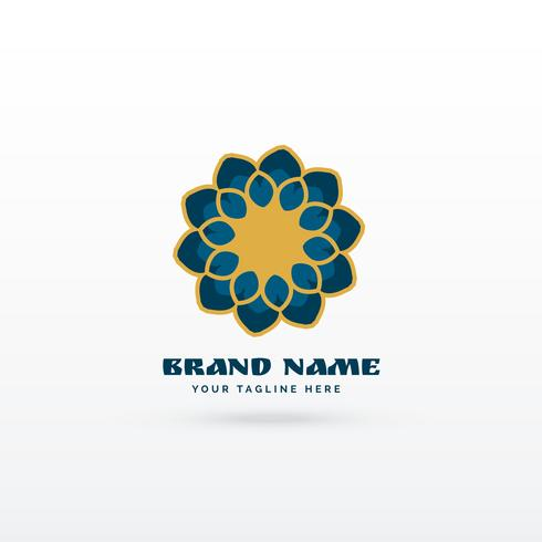 modern islamic flower style pattern logo concept design