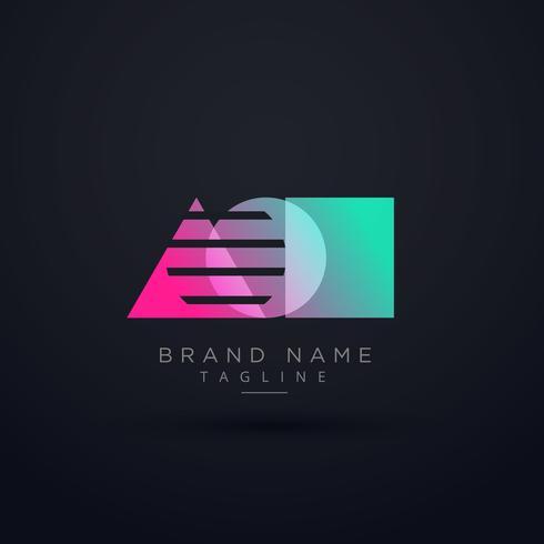 elegant geometric shape logo concept design