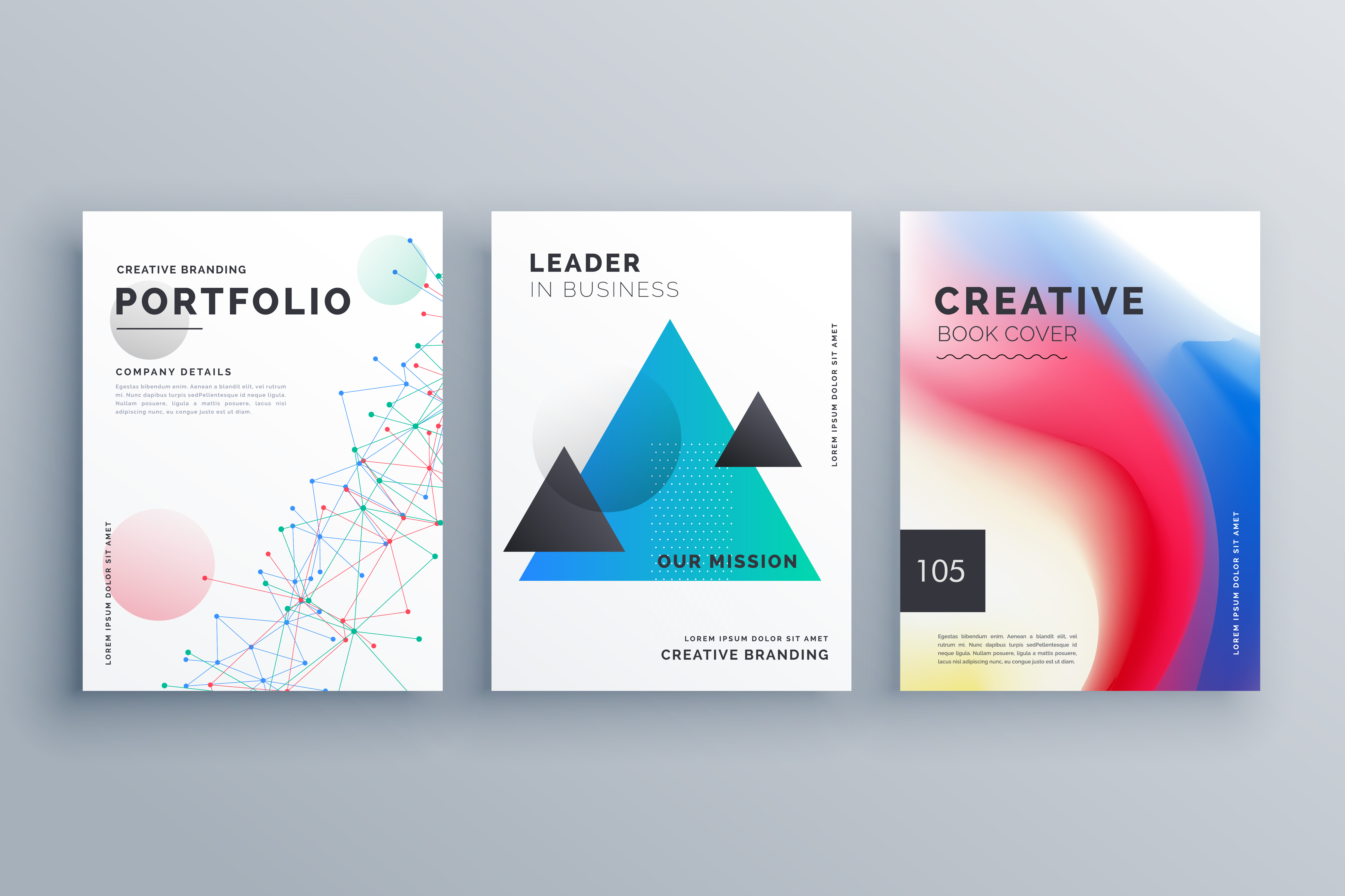 creative brochure design teample set in a4 size made with