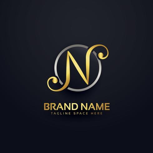 letten N logo design in creative style