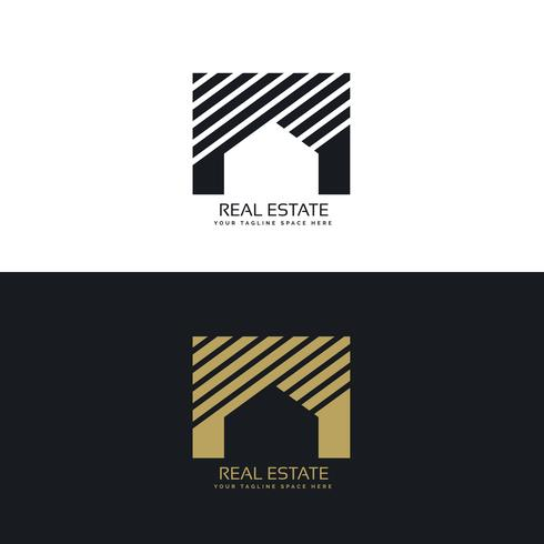 creative house or real estate logo design concept