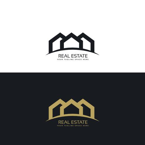 creative minimal real estate logo design concept