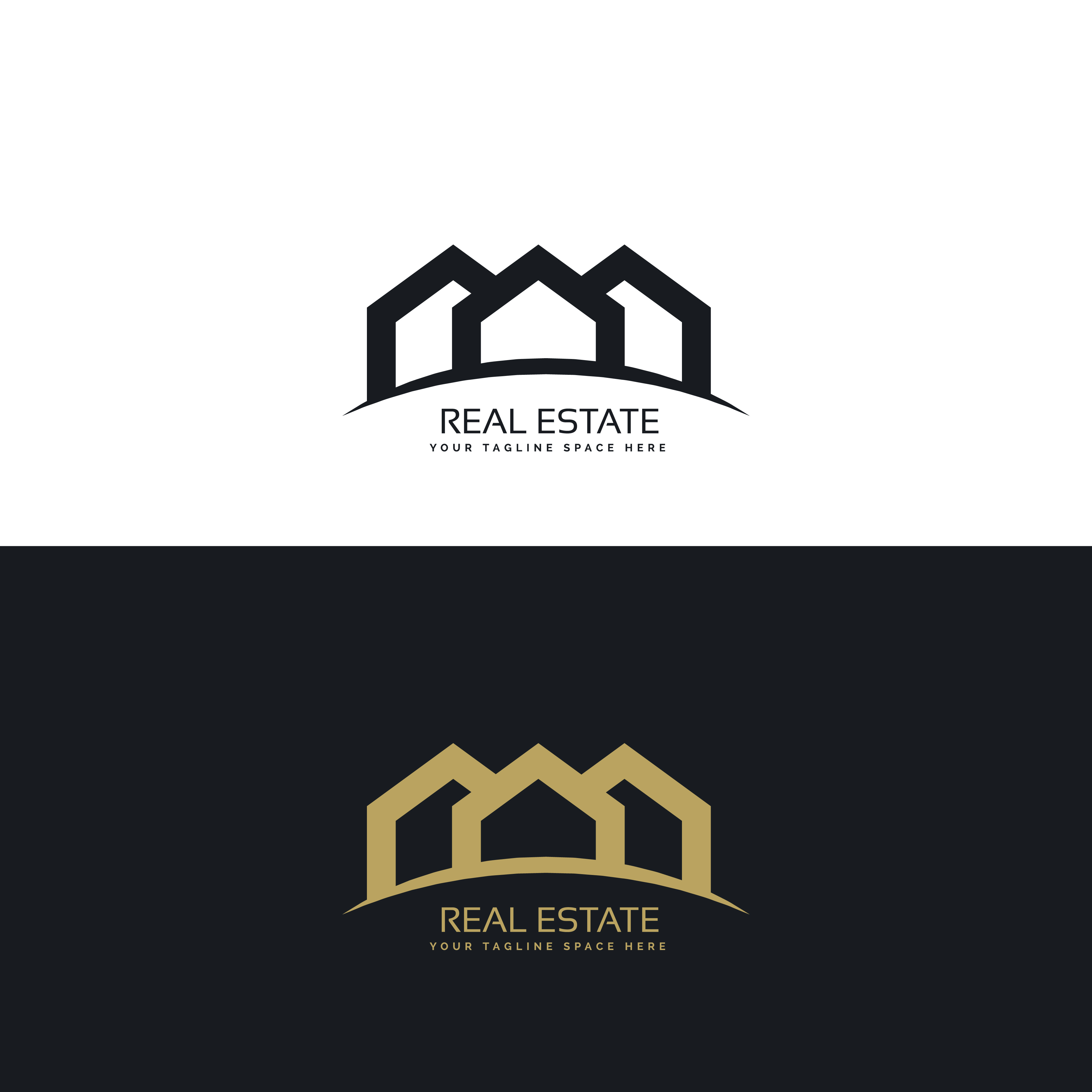 modern clean real estate logo design concept - Download ...