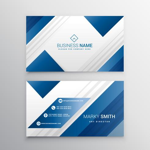 modern business card in blue color