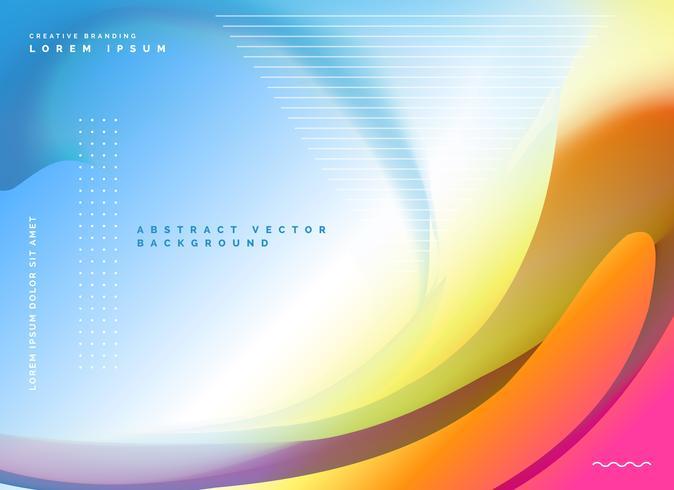 abstrato design de cartaz em estilo colorido