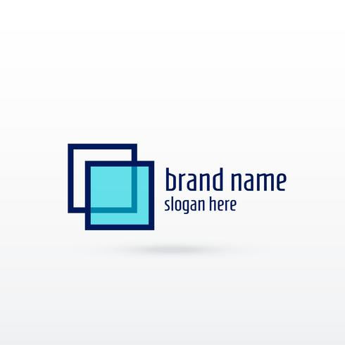 clean sqaure logo concept design for your brand