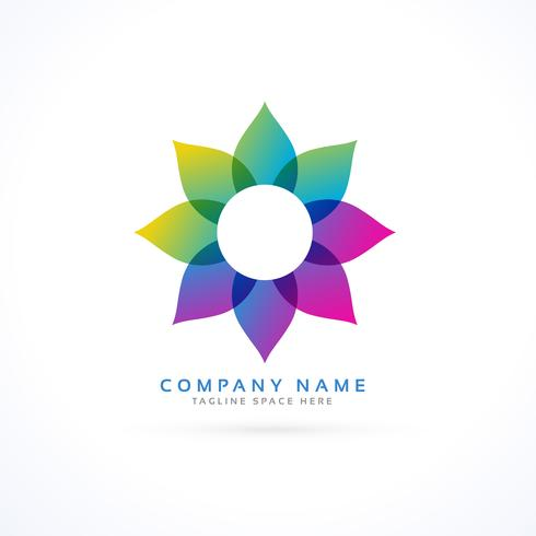 colorful flower logo with petals
