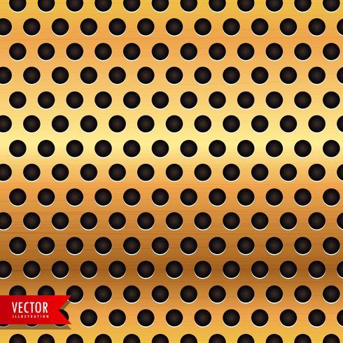círculo de ouro metal textura de fundo vector