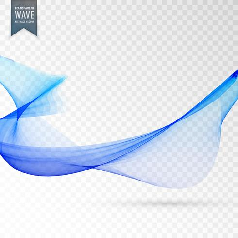 blue transparent twirl background vector