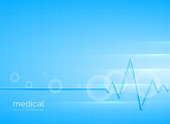 clean blue medical vector background design